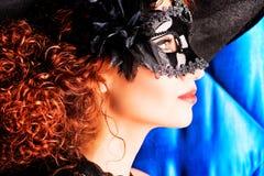 Il nero della maschera fotografia stock