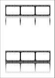 Il nero della striscia della pellicola Immagine Stock