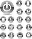 Il nero delle icone di Web Fotografia Stock