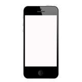 il nero di iphone 5 Fotografia Stock Libera da Diritti