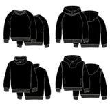 Il nero di maglie con cappuccio Immagine Stock Libera da Diritti