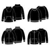 Il nero di maglie con cappuccio 3 Immagine Stock Libera da Diritti
