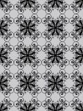 Il nero di Nouveau di arte su senza giunte grigio Fotografia Stock Libera da Diritti
