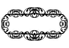 Il nero di Nouveau di arte sulla bandiera bianca Fotografia Stock