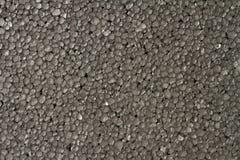 Il nero di pietra della schiuma di stirolo Fotografie Stock
