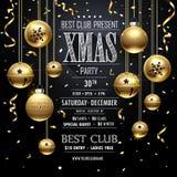 Il nero di progettazione della festa di Natale Fotografie Stock