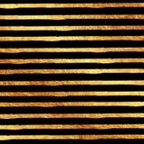 Il nero di scintillio della stagnola di oro del Faux Immagine Stock Libera da Diritti