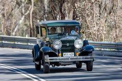 Il nero 1929 di Stutz Hawk Sedan Immagini Stock Libere da Diritti