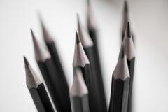 Il nero disegna a matita il primo piano Fotografia Stock Libera da Diritti