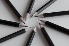 Il nero disegna a matita la formazione Fotografia Stock