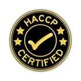 Il nero e colore dell'oro di analisi dei rischi di HACCP e della cont. critica Fotografia Stock Libera da Diritti