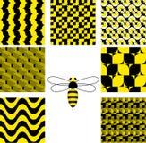 Il nero e colore giallo Fotografia Stock Libera da Diritti