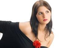 Il nero e colore rosso fotografie stock