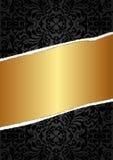 Il nero e fondo dell'oro Fotografie Stock