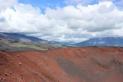 Il nero e frassino rosso americano, valle delle colline, dopo l'eruzione vulcanica Fotografia Stock Libera da Diritti