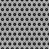 Il nero e Gray Flower Repeat Pattern Background Fotografia Stock Libera da Diritti