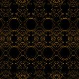 Il nero e modello dell'oro dalle linee sottili royalty illustrazione gratis