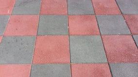 Il nero e quadrati rossi Immagini Stock