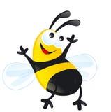 Il nero felice di giallo delle bande di sorriso di noney dell'ape Immagini Stock