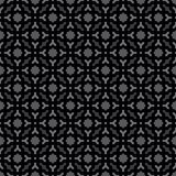 Il nero geometrico decorativo senza cuciture astratto & Gray Pattern Background Immagini Stock Libere da Diritti