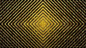 Il nero geometrico e l'oro strutturano il fondo senza cuciture caleidoscopico illustrazione vettoriale