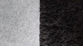 Il nero grigio del doppio tappeto Fotografie Stock Libere da Diritti