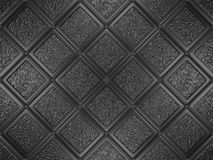 Il nero ha decorato le mattonelle Immagini Stock Libere da Diritti