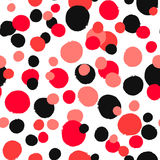 Il nero insolito di Dots Pattern Painted Red White Immagini Stock