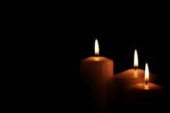 Il nero leggero della candela Fotografia Stock