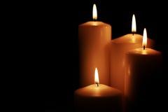 Il nero leggero della candela Fotografia Stock Libera da Diritti