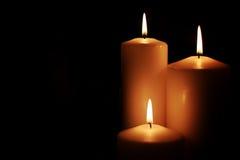 Il nero leggero della candela Immagini Stock Libere da Diritti