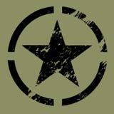 Il nero militare di simbolo della stella Fotografia Stock
