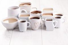 Il nero o caffè macchiato Fotografia Stock