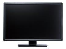 Il nero a 24 pollici del visualizzatore del computer Fotografia Stock Libera da Diritti