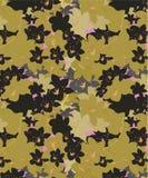 Il nero, rosa, modello senza cuciture floreale delle orchidee di Brown illustrazione vettoriale