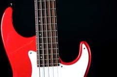 Il nero rosso Bk della chitarra elettrica Fotografia Stock Libera da Diritti