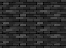 Il nero senza cuciture del modello del mattone della parete Immagine Stock
