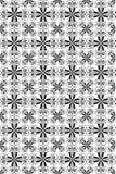 Il nero senza giunte di piacere su bianco Fotografia Stock