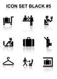Il nero stabilito #5 dell'icona Illustrazione di Stock