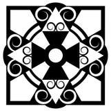 Il nero stampato in neretto sul disegno bianco Immagine Stock