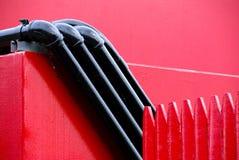 Il nero su colore rosso fotografie stock libere da diritti