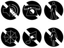 Il nero vietato di serie due degli oggetti Immagini Stock Libere da Diritti