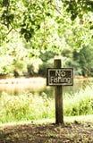 Il nessun segno di pesca Fotografia Stock Libera da Diritti