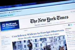 Il New York Times Fotografie Stock Libere da Diritti