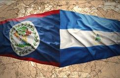 Il Nicaragua e Belize Immagine Stock