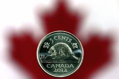 Nichel canadese Fotografia Stock