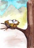 Il nido immagine stock