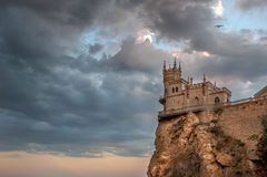 Il nido del sorso del castello in grande Jalta 4 Immagini Stock Libere da Diritti