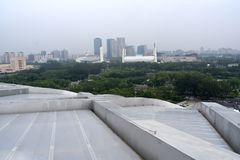 Il nido dell'uccello, stadio nazionale, Pechino, Cina immagine stock libera da diritti