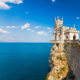 Il nido dello Swallow ben noto del castello vicino a Yalta Immagini Stock